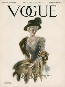 Vogue Cover - November 1907 by Stuart Travis