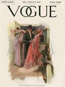 Vogue Cover - November 1908 by Stuart Travis