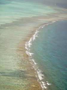 Aerial of Barrier Reef, Lighthouse Atoll, Belize by Stuart Westmoreland
