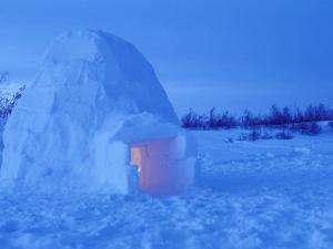 Interior of Arctic Igloo, Churchill, Manitoba, Canada by Stuart Westmoreland