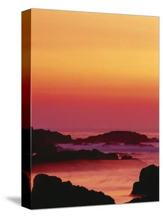 Offshore Rocks at Sunset, Pacific Grove, Monterey Peninsula, California, USA