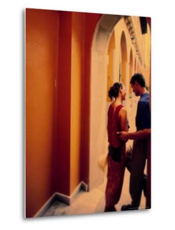 Spanish Couple Outside of Hotel Muncey, Tenerife, Canary Islands, Spain