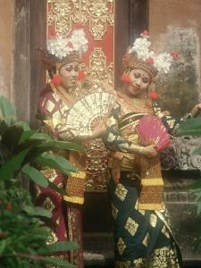 Balinese Legong Dancers, Indonesia by Stuart Westmorland