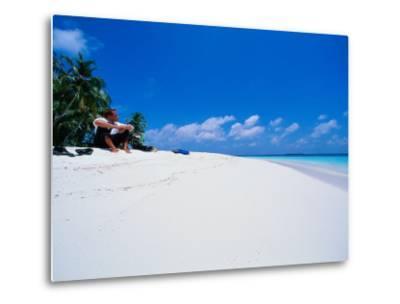 Businessman on Beach, Maldives