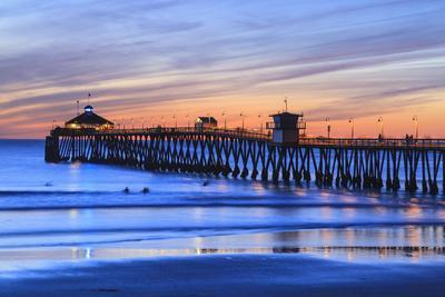 Imperial Beach Pier at Twilight, San Diego, Southern California, USA