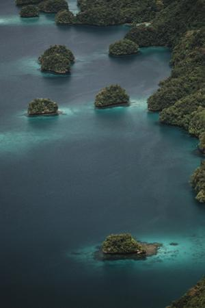 Micronesia, Palau, Aerial View of Rock Islands and World Heritage Site by Stuart Westmorland