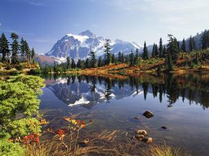 Mt Shuksan with Picture Lake, Mt Baker National Recreation Area, Washington, USA by Stuart Westmorland