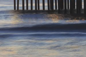 Pacific Ocean wave patterns after sunset, Pacific Beach, San Diego, California, USA by Stuart Westmorland