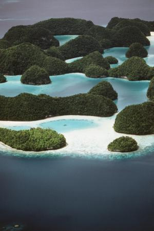Palau, Micronesia, Ariel View of Rock Islands by Stuart Westmorland