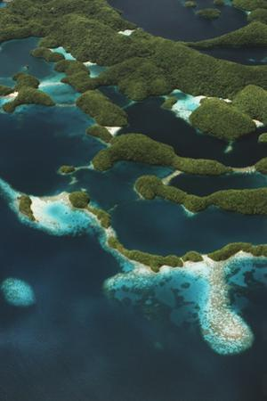 Palau, Micronesia, Rock Islands, Aerial View of Rock Islands by Stuart Westmorland