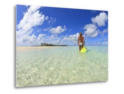 Rear View of Woman With Mask, Kadhdhoo Island, Laamu Atoll, Southern Maldives