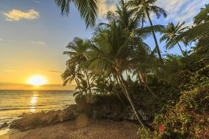 Sunset at beach near Wailea, Maui, Hawaii, USA by Stuart Westmorland