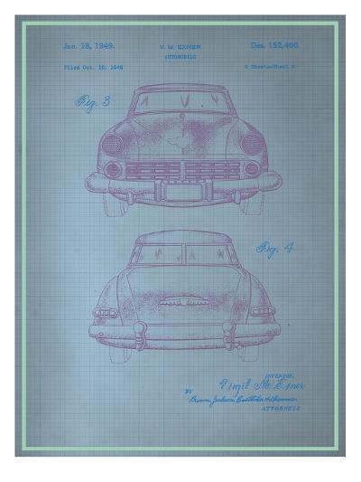 Studebaker Blueprint--Art Print