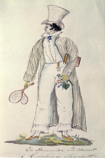 Student of Harvard University in 1820--Giclee Print
