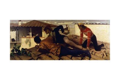 Students from Alciato, 1864-Federico Faruffini-Giclee Print