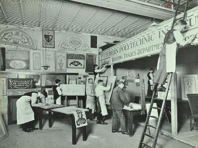 Students from Trade Classes, Northern Polytechnic, London, 1911--Photographic Print