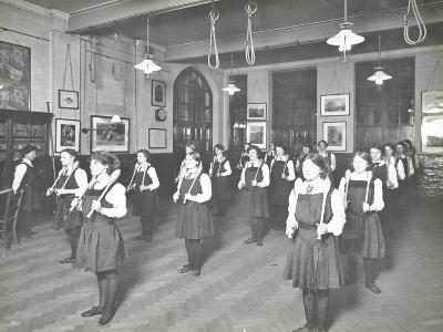 Students in the Gymnasium, Ackmar Road Evening Institute for Women, London, 1914--Photographic Print