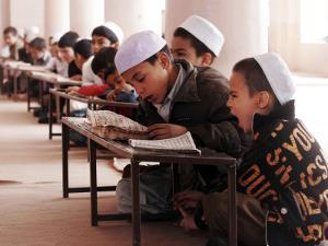 Students Read the Holy Quran During a Class in Herat, Afghanistan
