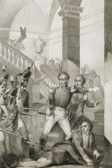 Students Revolt at University of Turin, 1821, Unification Era, Italy--Giclee Print