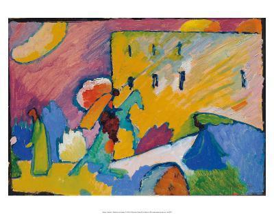 Studie zu Improvisation 3 (1910)-Wassily Kandinsky-Art Print