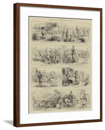 Studies at Suburban Races--Framed Giclee Print