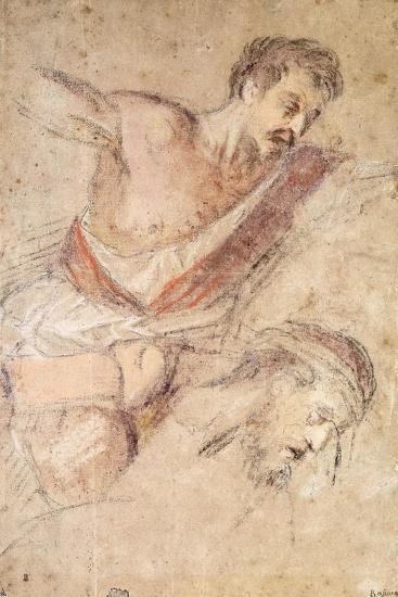 Studies for a Flagellation: a Man Scourging and the Head of Christ-Jacopo Bassano-Giclee Print