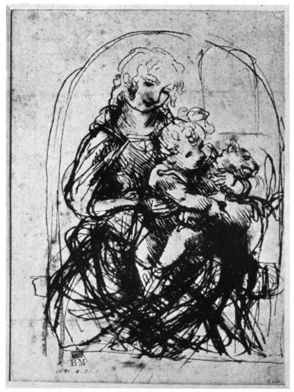 Studies for a Madonna Del Gatto, 15th Century-Leonardo da Vinci-Giclee Print
