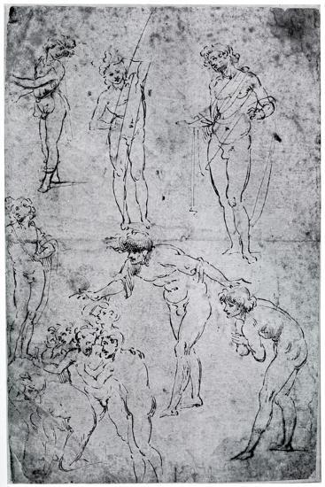 Studies for the Adoration of the Magi, 15th Century-Leonardo da Vinci-Giclee Print