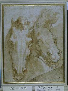 Studies for the Heads of Two Horses