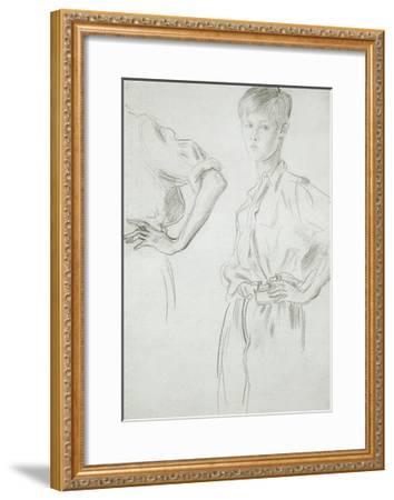 Studies of a Boy-Augustus Edwin John-Framed Giclee Print