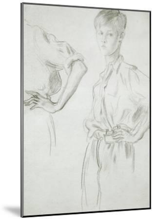 Studies of a Boy-Augustus Edwin John-Mounted Giclee Print