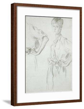 Studies of a Boy-Augustus Edwin John-Framed Giclee Print