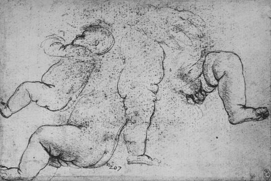 'Studies of a Child', c1490 (1945)-Leonardo da Vinci-Giclee Print