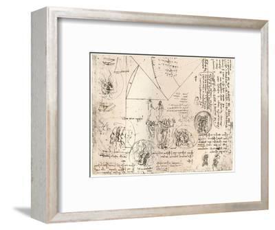 Studies of emblems, c1472-c1519 (1883)-Leonardo da Vinci-Framed Giclee Print