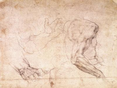 Studies of Hands and an Arm-Michelangelo Buonarroti-Giclee Print