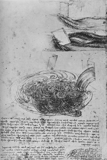'Studies of Water Formations', c1480 (1945)-Leonardo da Vinci-Giclee Print