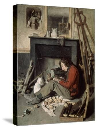 Studio Interior, 1845-Octave Tassaert-Stretched Canvas Print