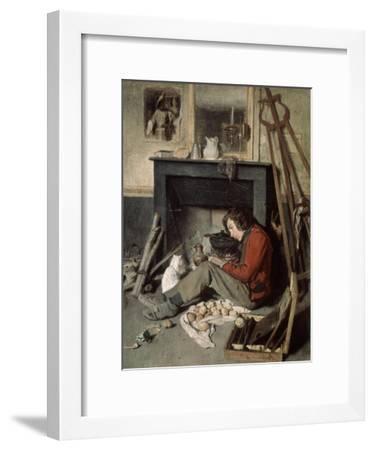 Studio Interior, 1845-Octave Tassaert-Framed Giclee Print