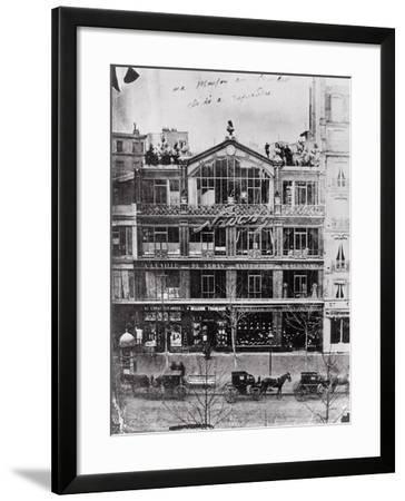 Studio of Nadar at 35 Boulevard Des Capucines, Paris, c.1855-Nadar-Framed Photographic Print