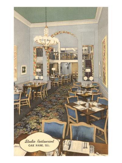 Studio Restaurant, Oak Park, Illinois--Art Print