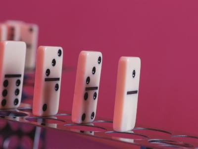 Studio Shot of a Game of Dominos--Photographic Print