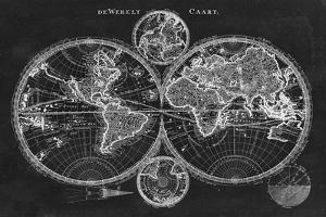 Charcoal World Map by Studio W