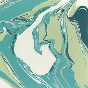Flowing Teal IV by Studio W