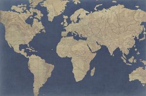 Linen Map I by Studio W