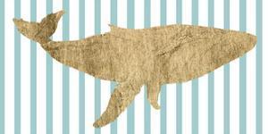 Pin Stripe Whale I by Studio W