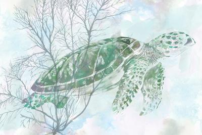 Watercolor Sea Turtle I