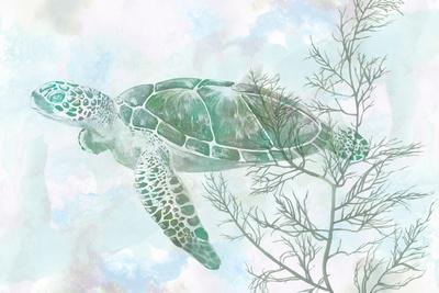 Watercolor Sea Turtle II