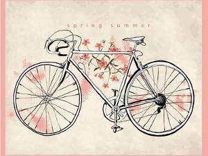 Flower Vintage Bicycle by studiohome