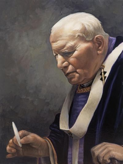 Study for a Portrait of Pope John Paul II (1920-2005) 2005-James Gillick-Giclee Print