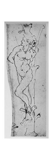 'Study for a St. Sebastian', c1480 (1945)-Leonardo da Vinci-Giclee Print